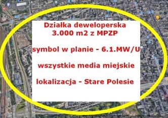 działka na sprzedaż - Łódź, Polesie, Stare Polesie