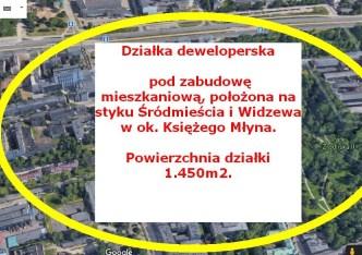 działka na sprzedaż - Łódź, Widzew, Księży Młyn