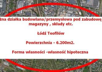 działka na sprzedaż - Łódź, Bałuty, Żabieniec
